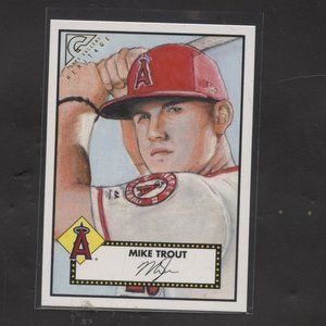 2018 topps gallery heritage Mike Trout Angels